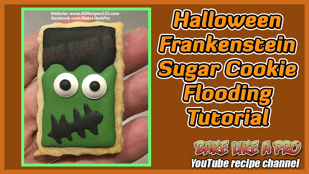 HALLOWEEN FRANKENSTEIN SUGAR COOKIE FLOODING TUTORIAL BY BAKELIKEAPRO